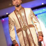 Asian Wedding Experience Catwalk Groom in white sherwani