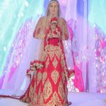 Asian Wedding Experience 2016 catwalk | Bride in gold and red lace asian lengha